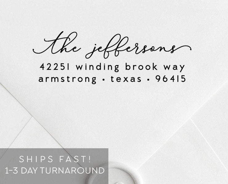 Return Address Stamp, Custom Rubber Stamp #004 by Starboard Press - Starboard Press