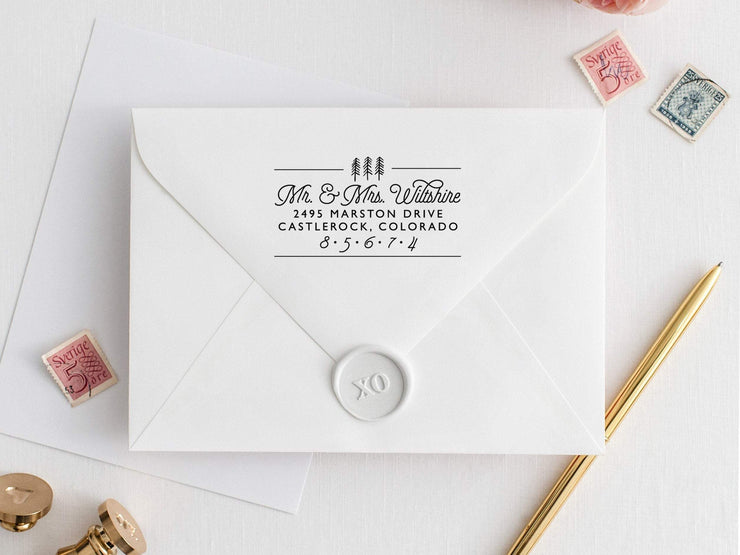 Return Address Stamp, Custom Rubber Stamp #005 by Starboard Press - Starboard Press