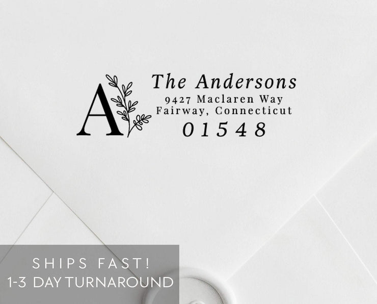 Return Address Stamp, Custom Rubber Stamp #010 by Starboard Press - Starboard Press