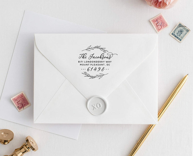 Return Address Stamp, Custom Rubber Stamp #012 by Starboard Press - Starboard Press