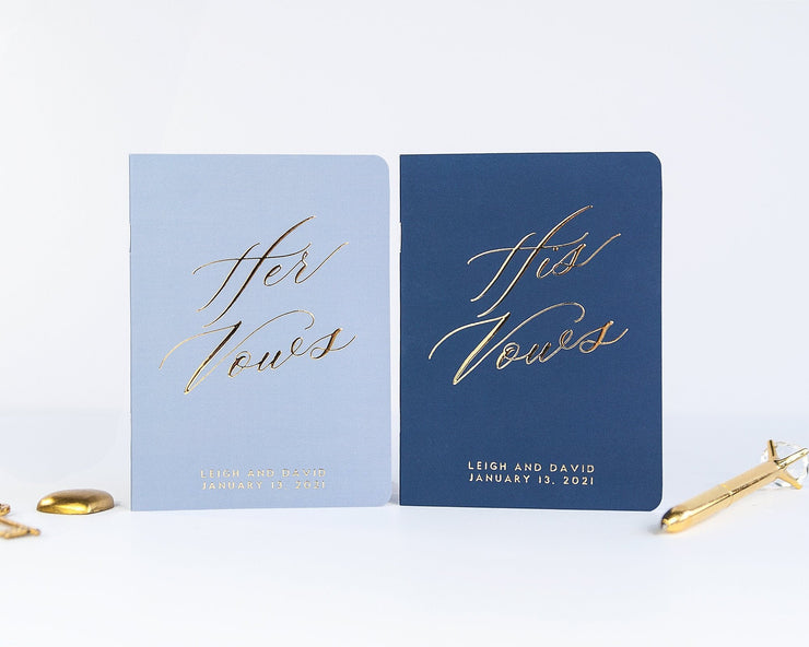Wedding Vow Books, Custom Vow Booklets #002 by Starboard Press