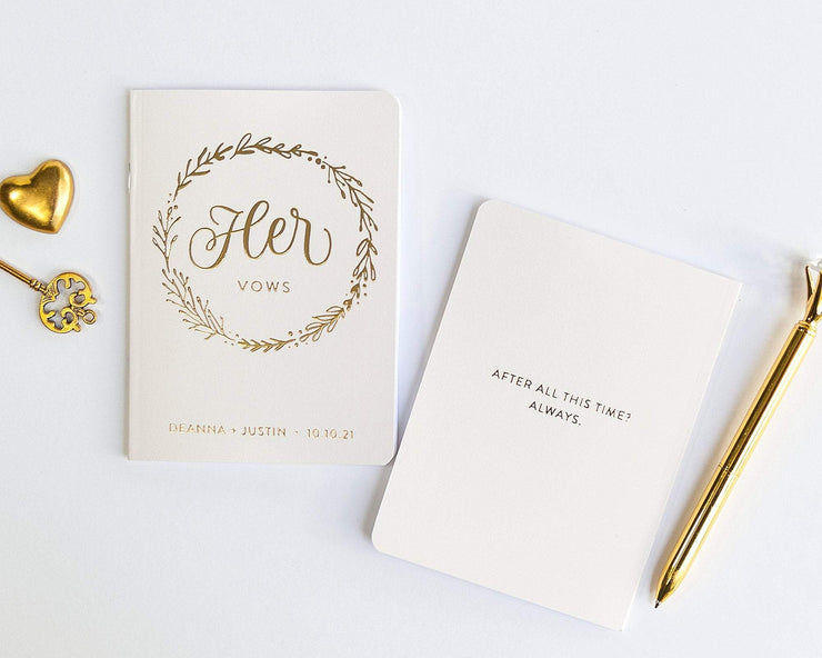 Wedding Vow Books, Custom Vow Booklets #007 by Starboard Press