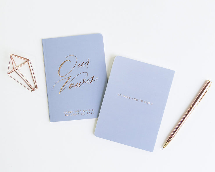 Wedding Vow Books, Custom Vow Booklets #009 by Starboard Press
