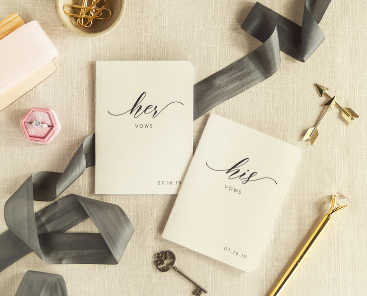 Wedding Vow Books, Custom Vow Booklets #011 by Starboard Press