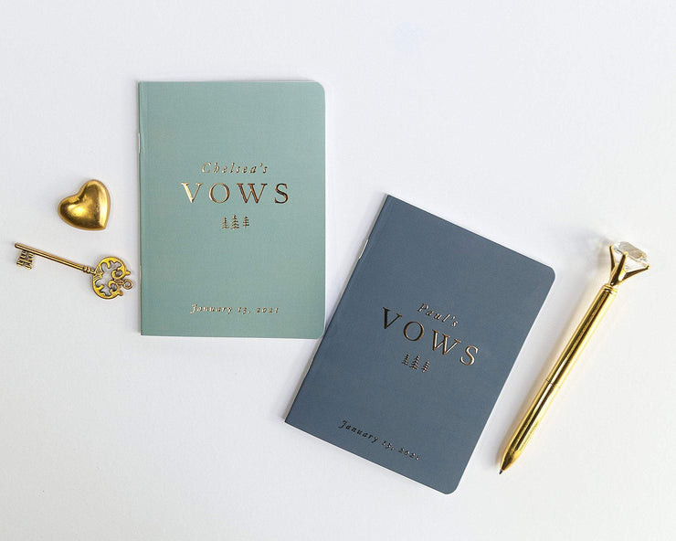 Wedding Vow Books, Custom Vow Booklets #013 by Starboard Press