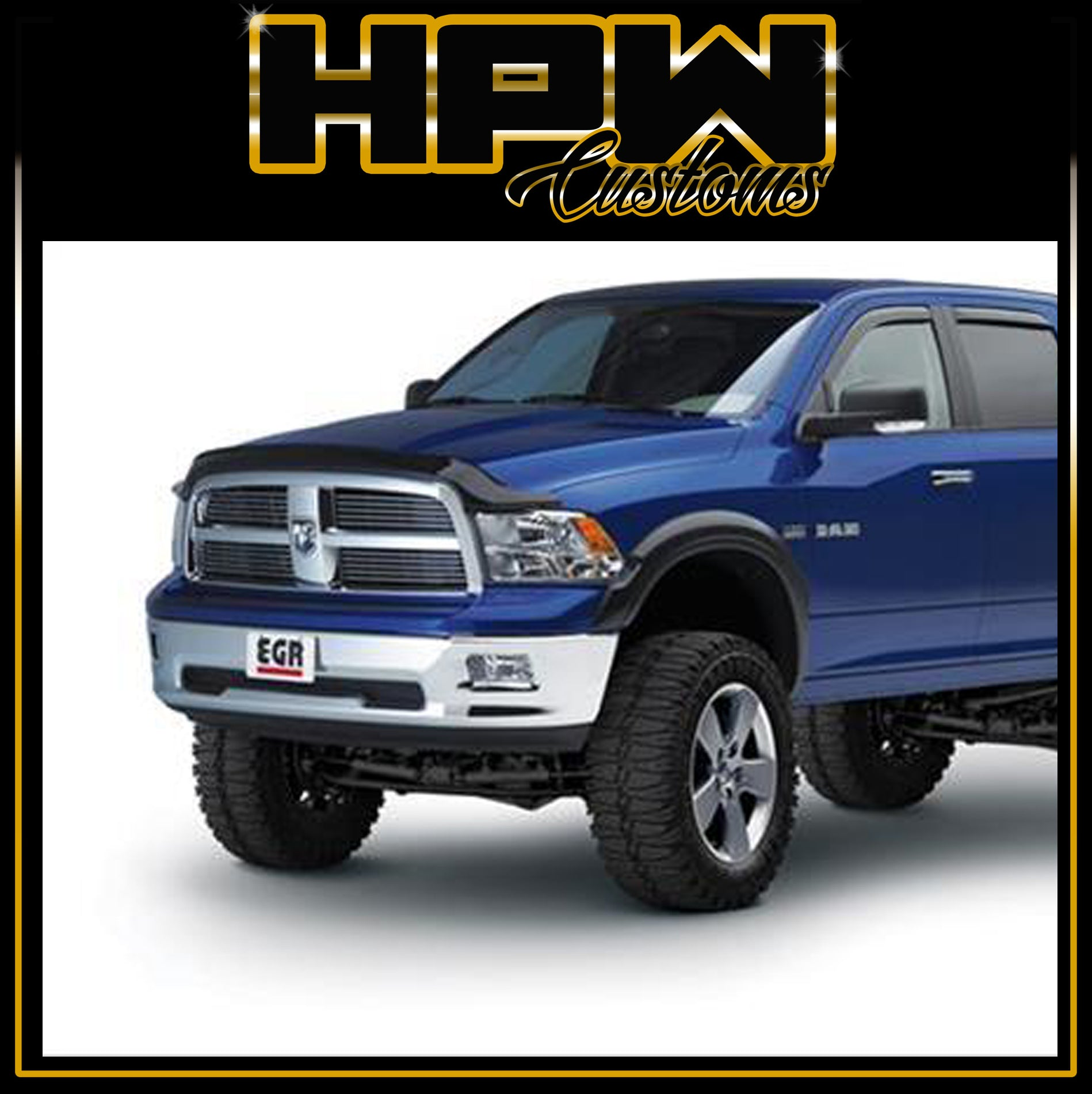 MATT finish No-Drill Rugged Look RAM 1500 Flares suits EXPRESS & LARAMIE