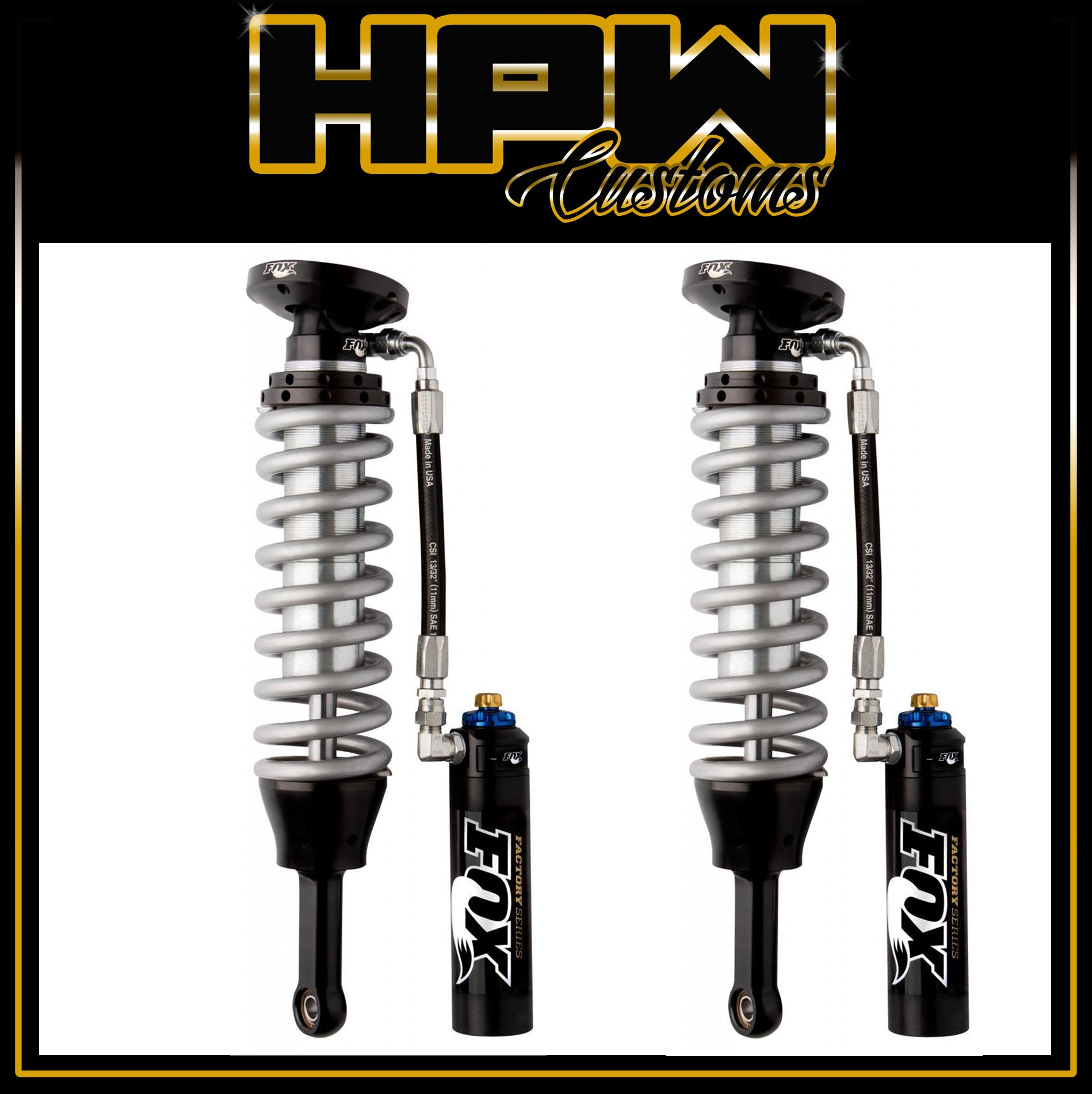 "4"" Lift FOX RACING 2.5 Race SERIES Coilover Reservoir with DSC Adjuster Kits for RAM 1500 LARAMIE & EXPRESS"