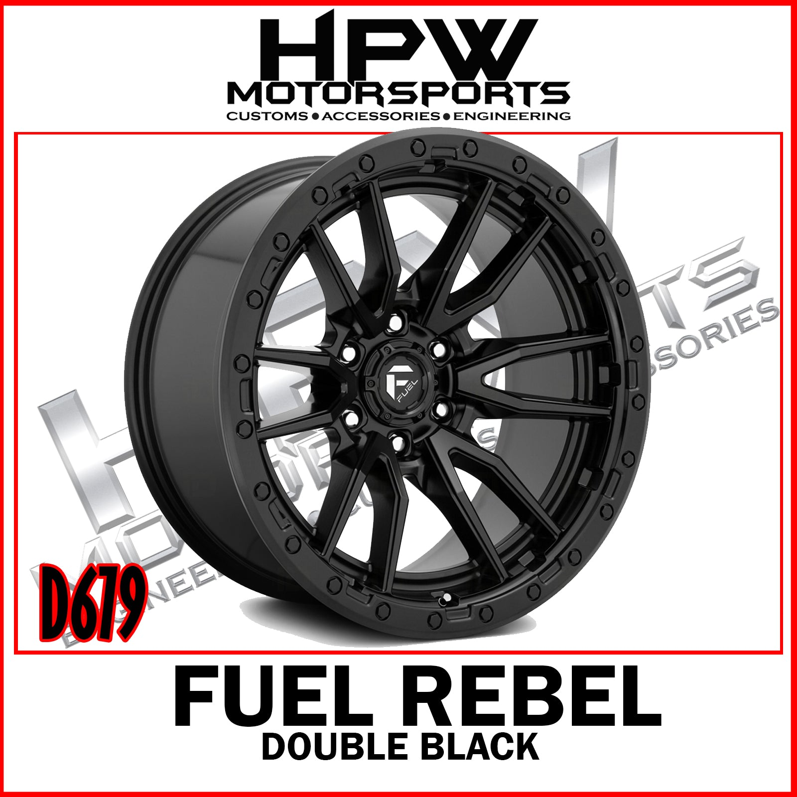 D679 REBEL - DOUBLE BLACK - Set of 4