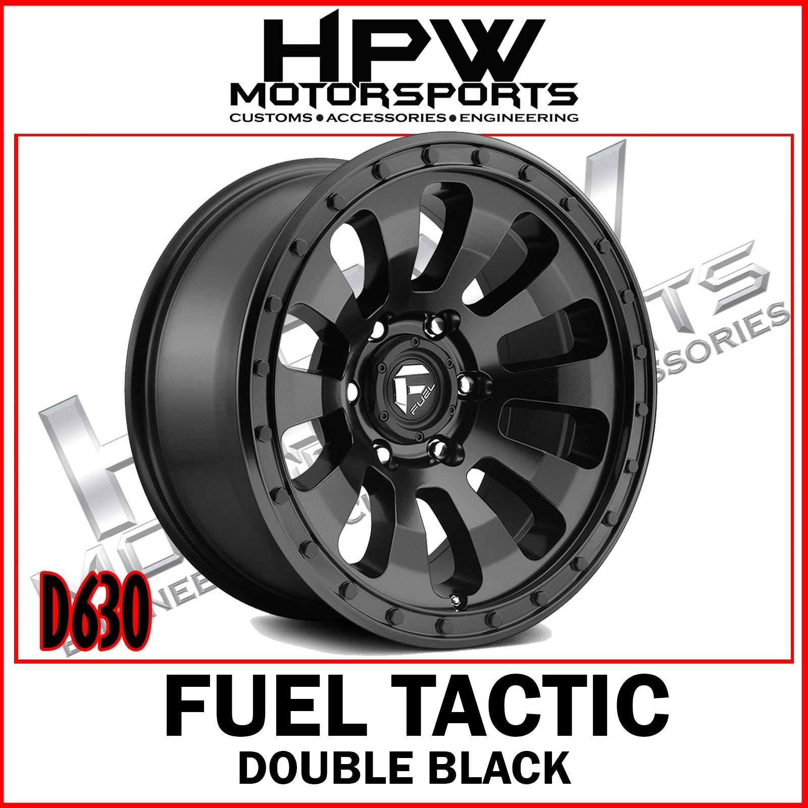 D630 FUEL TACTIC - DOUBLE BLACK - Set of 4