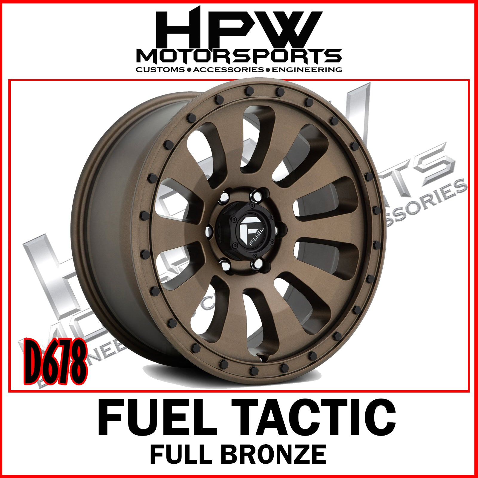 Copy of D678 FUEL TACTIC - FULL BRONZE - Set of 4