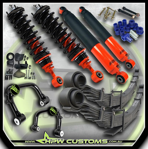 "3"" (75mm) Adjustable Bypass OUTBACK ARMOUR Lift kit for Ford Ranger PX3 - LEVEL OUT KIT"