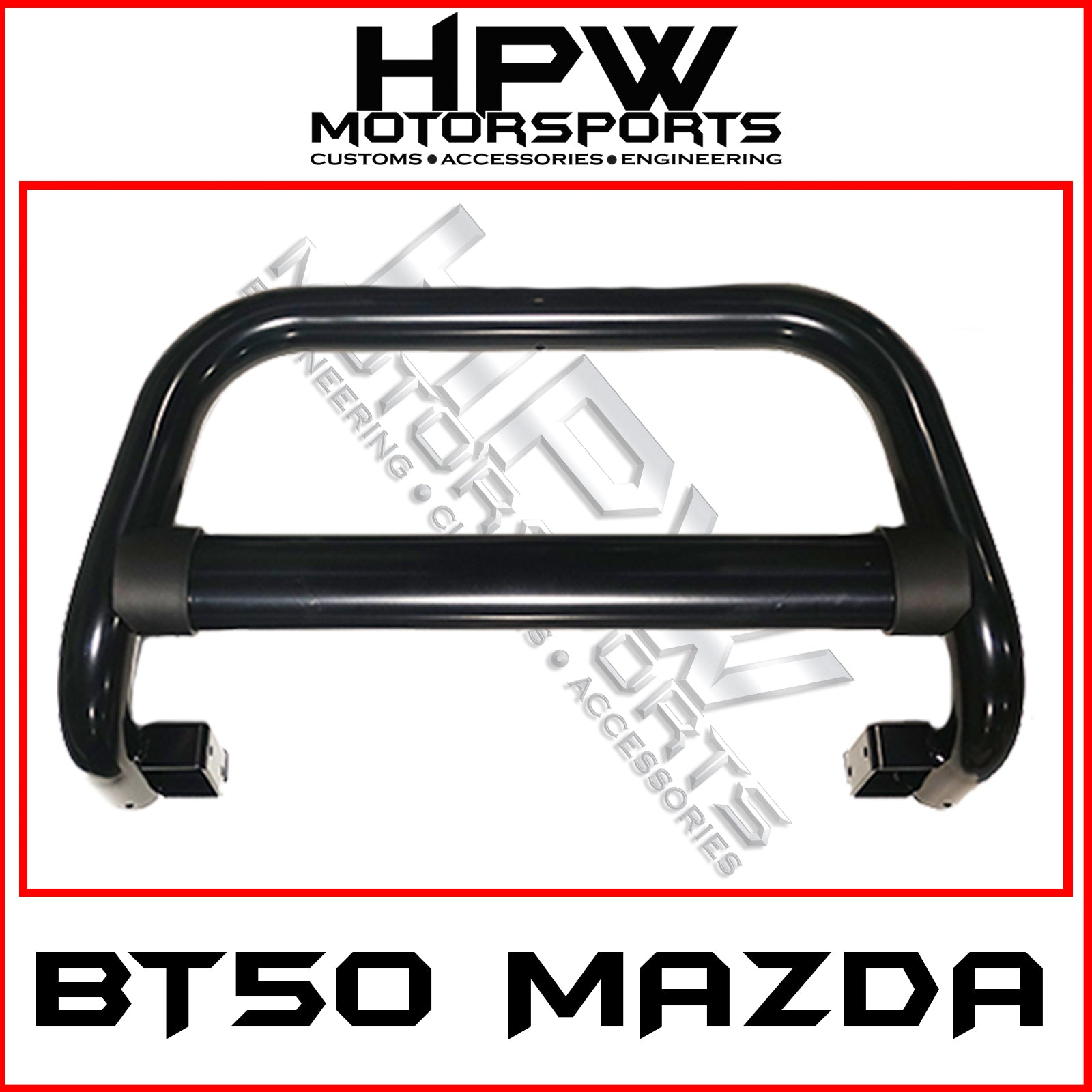 Nudge bar to suit Mazda BT50 - Black powder coat