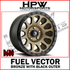 D600 FUEL VECTOR - BRONZE & BLACK - Set of 4
