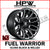 D623 FUEL WARRIOR - GLOSS BLACK & MILLED - Set of 4