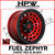 D632 FUEL ZEPHYR - CANDY RED / BLACK OUTER - Set of 4