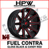 D643 FUEL CONTRA - GLOSS BLACK & CANDY - Set of 4