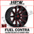 (20x10 -19) D643 FUEL CONTRA - GLOSS BLACK & CANDY RED - Set of 4