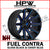 (20x10 -19) D644 FUEL CONTRA - GLOSS BLACK & CANDY BLUE - Set of 4