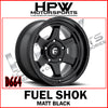 D664 FUEL SHOK - MATT BLACK - Set of 4
