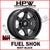 (17x10 -18) D664 FUEL SHOK - SATIN BLACK - Set of 4