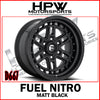 D667 FUEL NITRO - MATT BLACK - Set of 4