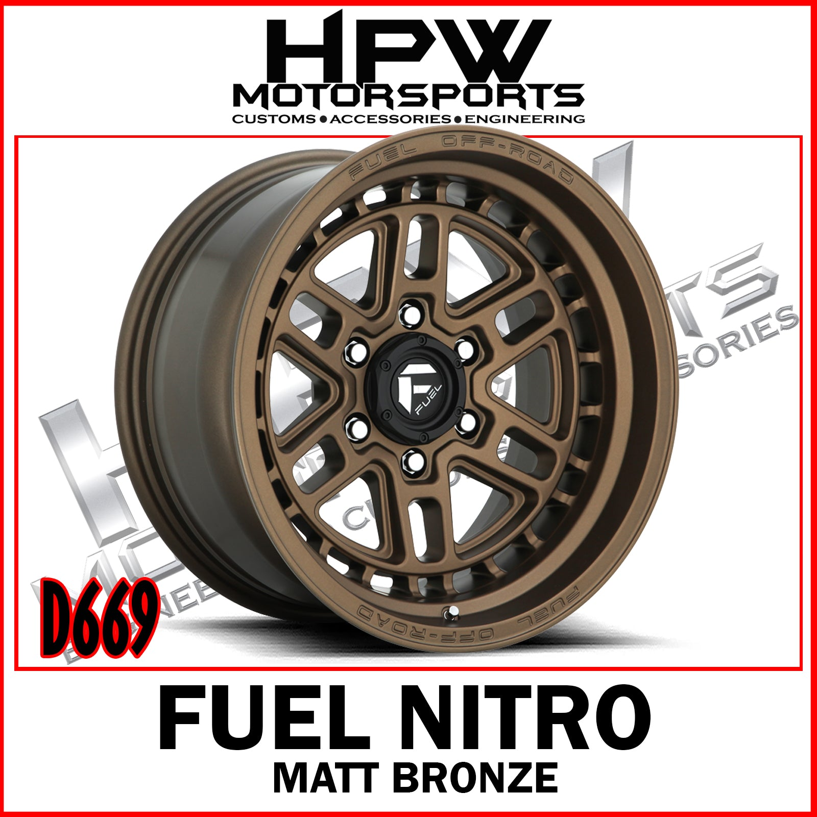 D669 FUEL NITRO - MATT BRONZE- Set of 4