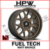 D671 FUEL TECH - MATT BRONZE - Set of 4