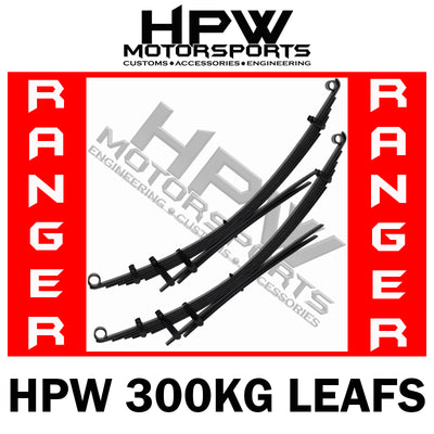 HPW Brand LEAF Springs PAIR - Ford Ranger PX1 & PX2 300kg LOAD