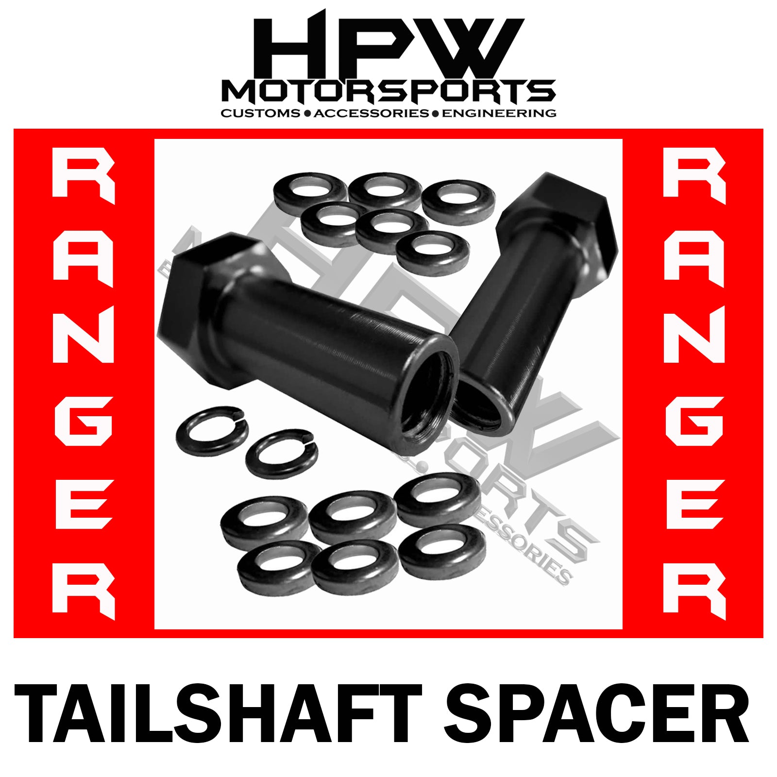 Tailshaft / Center bearing spacer KIT for Ford Ranger PX1 PX2