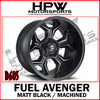 D605 FUEL AVENGER - MATT BLACK & MACHINED - Set of 4