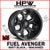 (20x10 -18) D605 FUEL AVENGER - MATT BLACK & MACHINED - Set of 4