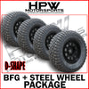 275/65/17 A/T BFGOODRICH TYRES & DYNAMIC STEEL WHEELS 17X8 (SET OF 4)