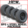 285/70/17 A/T BFGOODRICH TYRES & DYNAMIC STEEL WHEELS 17X8 (SET OF 4) NP300 ONLY