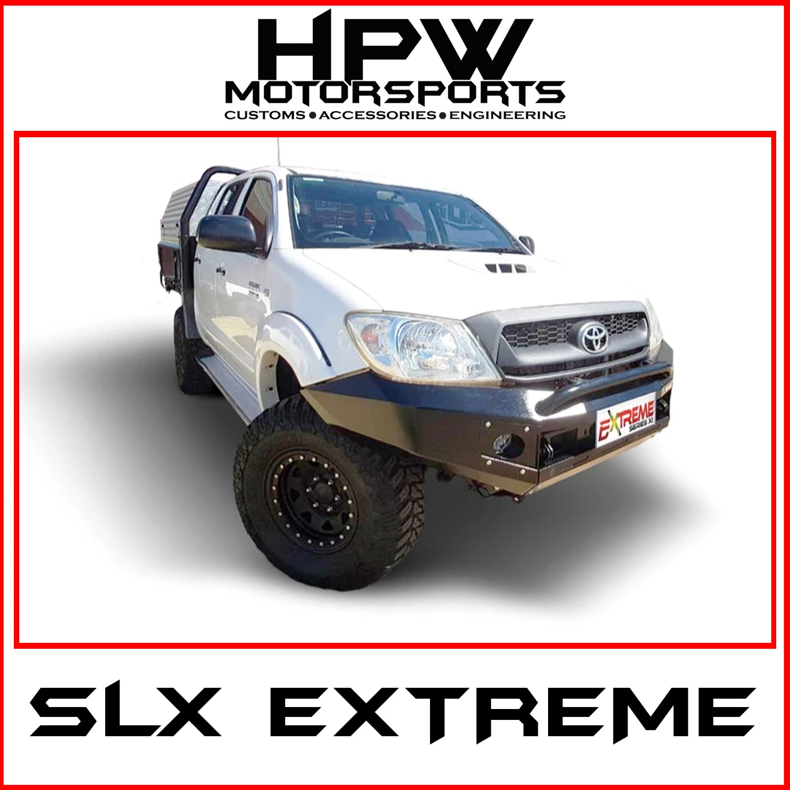 SLX Extreme series bullbar for Toyota Hilux 2005 - 2011