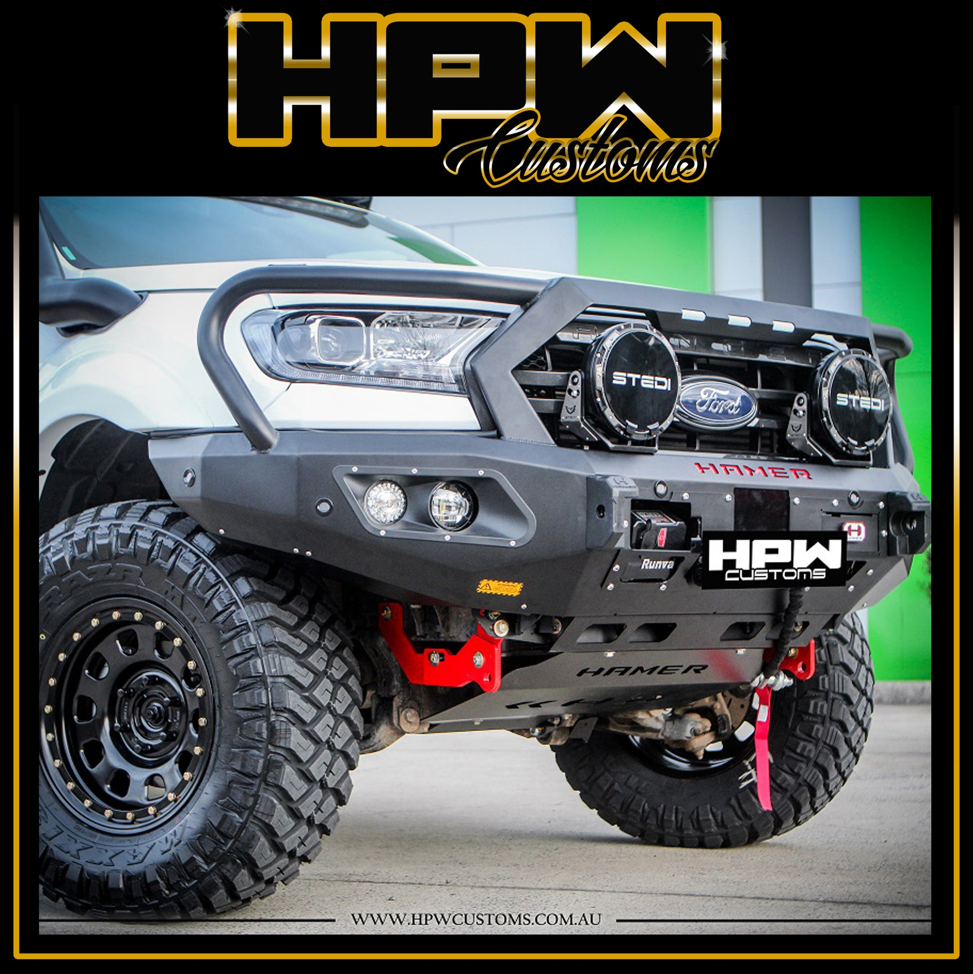 HAMER King series Triple hoop bullbar for PX2 & PX3 Ford Ranger