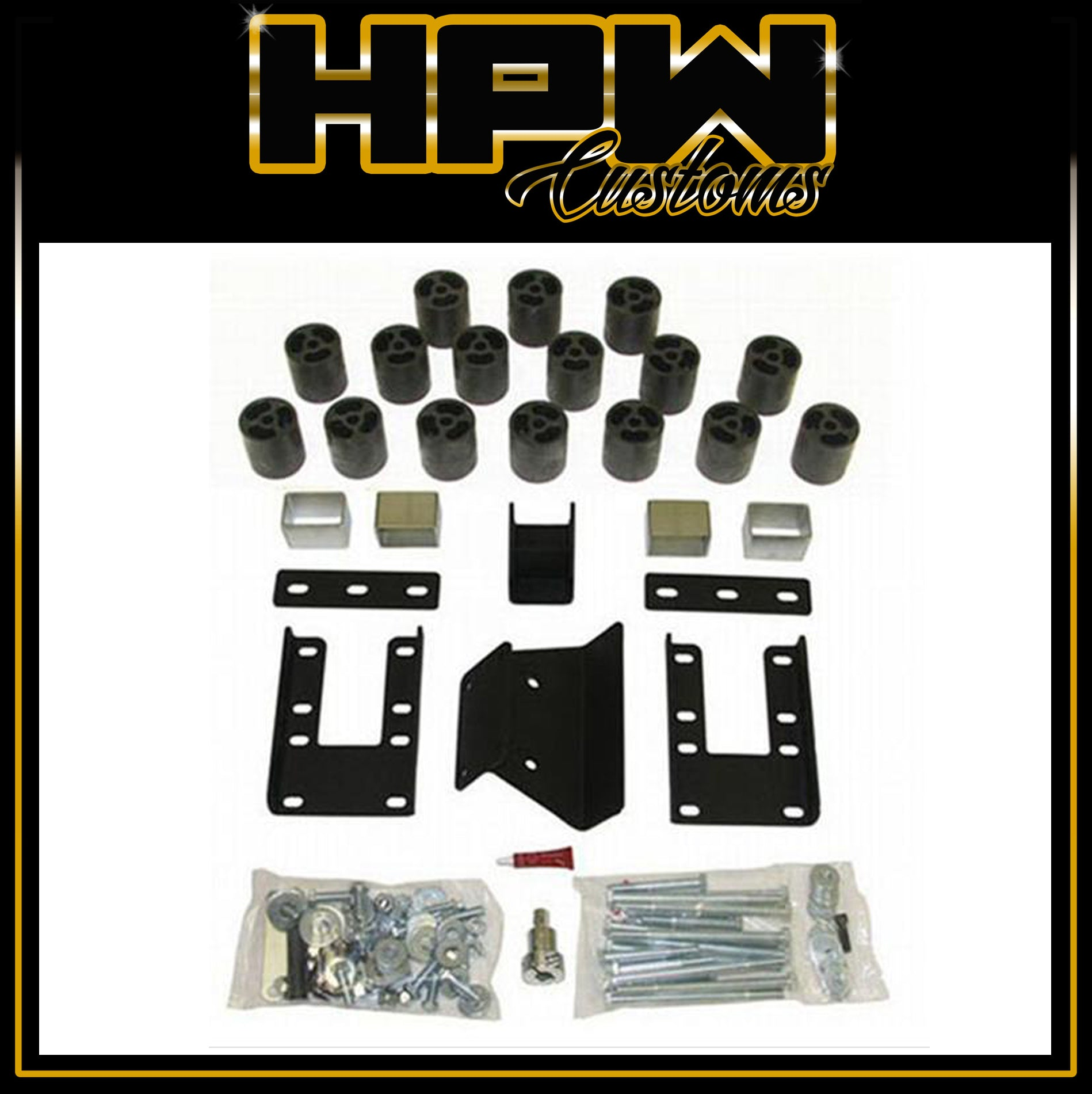"HPW CUSTOMS 3"" BODY Lift kit for RAM 1500 LARAMIE & EXPRESS"