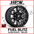 (20x10 -18) D673 FUEL BLITZ GLOSS BLACK & MILLED - Set of 4