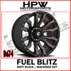 D674 FUEL BLITZ MATT BLACK / MACHINED DDT - Set of 4