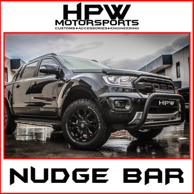 Nudge bar to suit Ford Ranger - Black powder coat