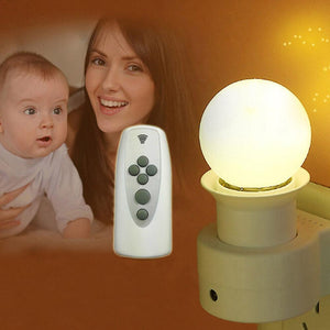 Intelligent Wall Light Socket Plug with Remote Control E27 220V(No Bulb)