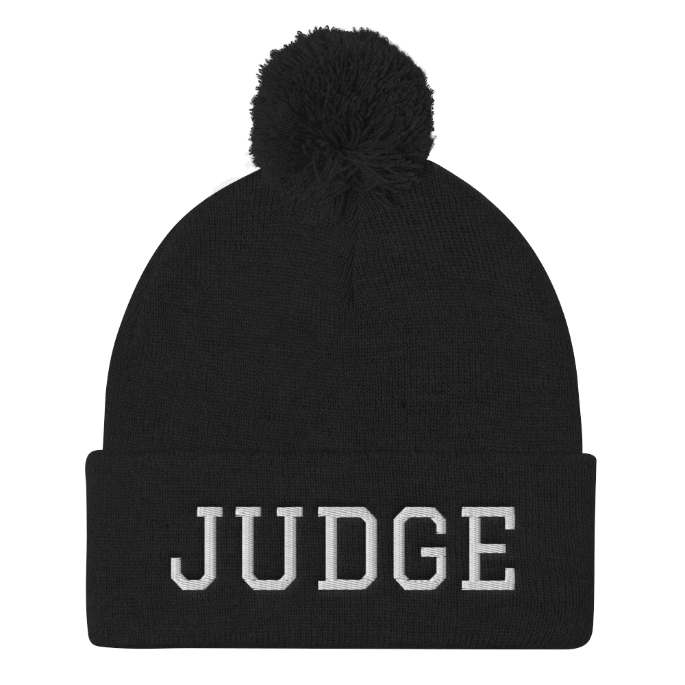 Judge Pom Pom Knit Cap - Legaltee