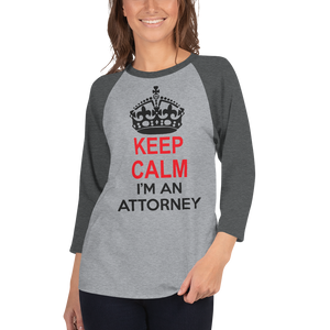Keep Calm 3/4 Sleeve *Colors* - Legaltee
