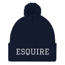 Load image into Gallery viewer, Esquire Pom Pom Knit Cap - Legaltee