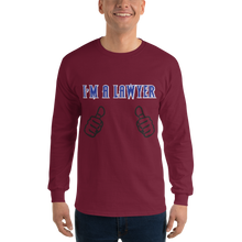 Load image into Gallery viewer, I'm an Attorney Long Sleeve *clear fingers* - Legaltee
