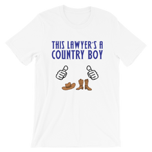Load image into Gallery viewer, Country Boy Lawyer *White Fingers* - Legaltee