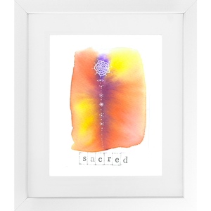 Sacred - SoulSpace Oracle framed print