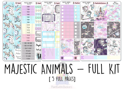Majestic Animals - 5 Page Kit OR A LA CARTE for  and other Similar Sized Planners