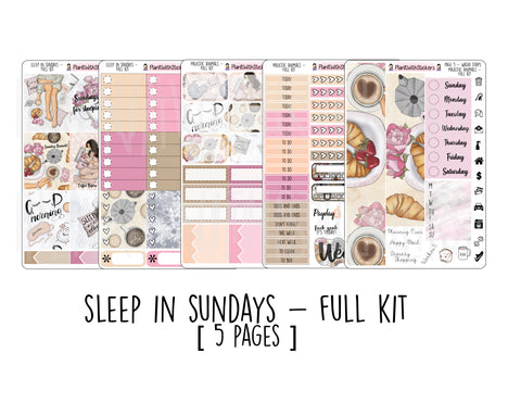 Sleep In Sundays - 5 Page Kit OR A LA CARTE for  and other Similar Sized Planners