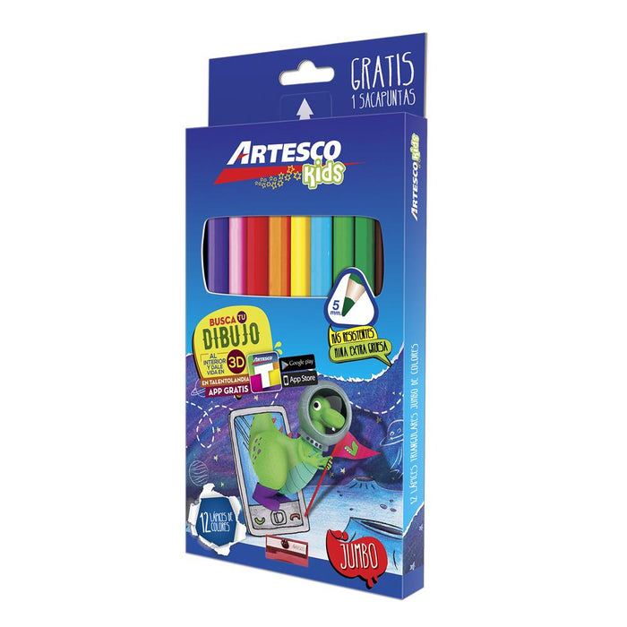 Colores Triangulares Jumbo X12U+Sacap Artesco