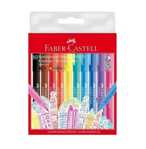 Marcadores  Finepen Ice 499 Faber Castell X10